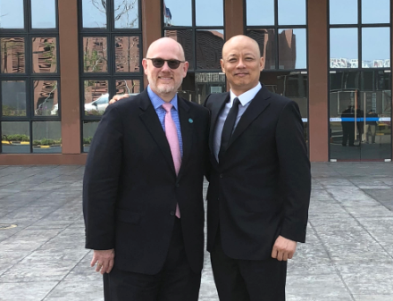 Paul and Shenzhen Arts School Principal Huang Qicheng