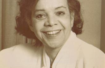 Black and white photo of CIM alumna Dolores White