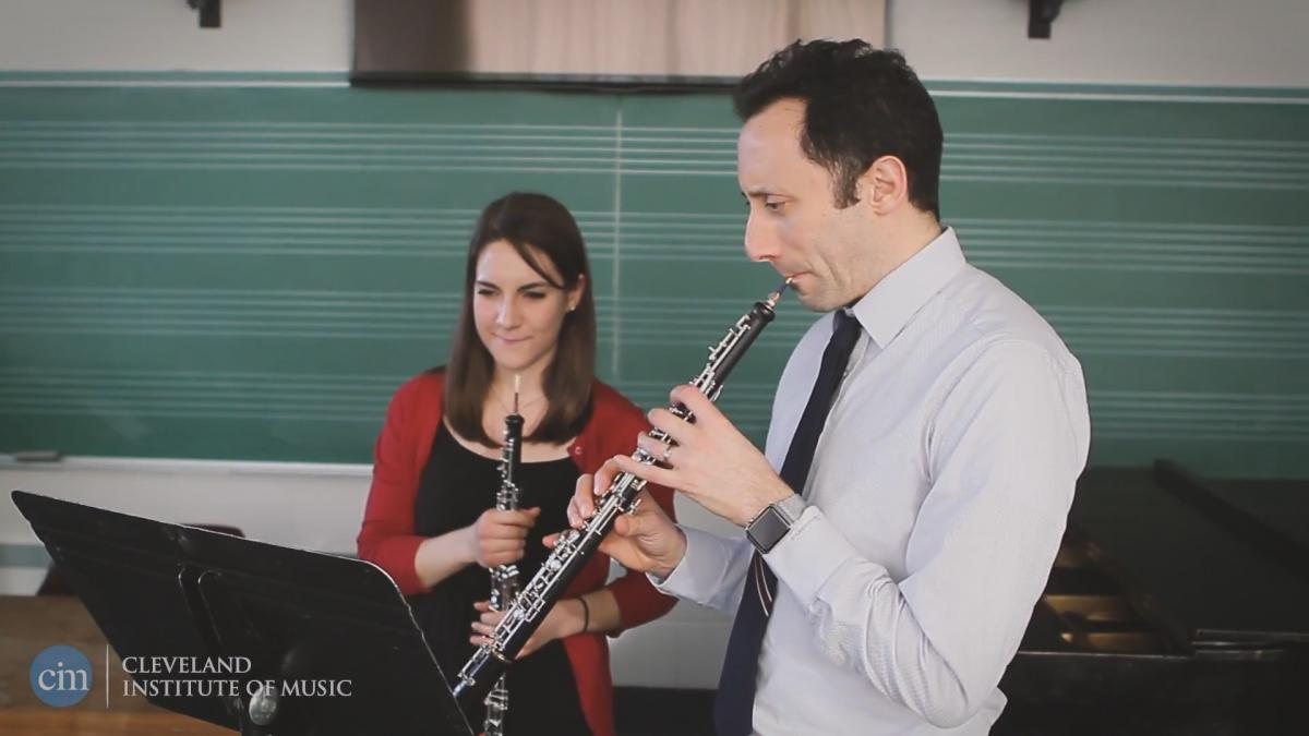 Faculty video of Freank Rosenwein, head of CIM Oboe Department
